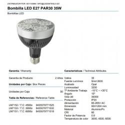 Bombilla LED E27 PAR30 35W
